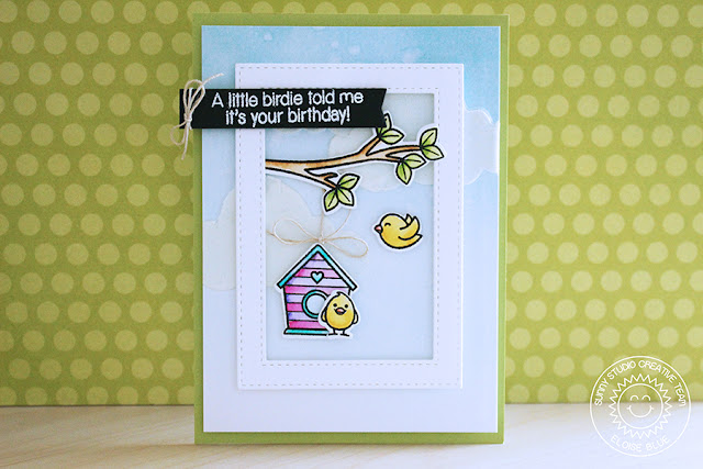 Sunny Studio Stamps: A Bird's Life Birthday Card by Eloise Blue