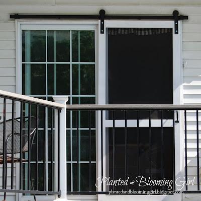 Cure 4 decor how to add a barn track sliding screen door for Barn door screen door