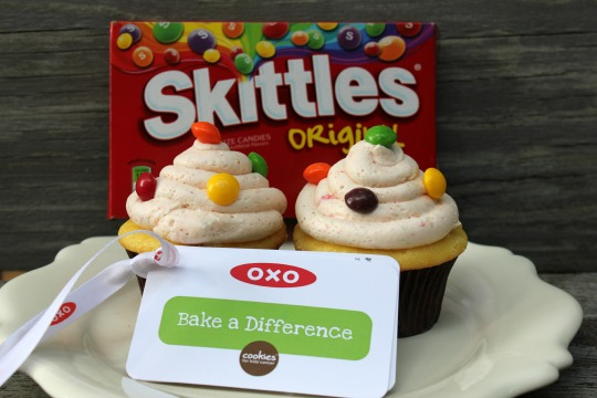 Skittles Cupcakes with Skittles Frosting