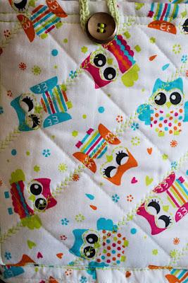 Funda búhos máquina coser