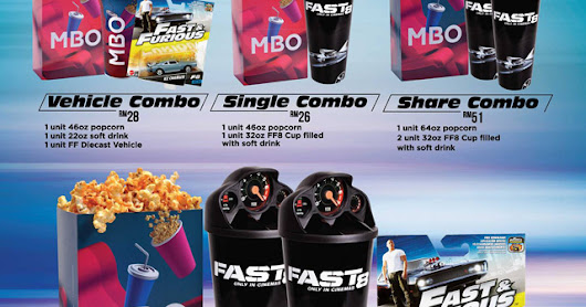 Fast & Furious 8 Combo Hot Wheels Promotion at MBO Cinemas