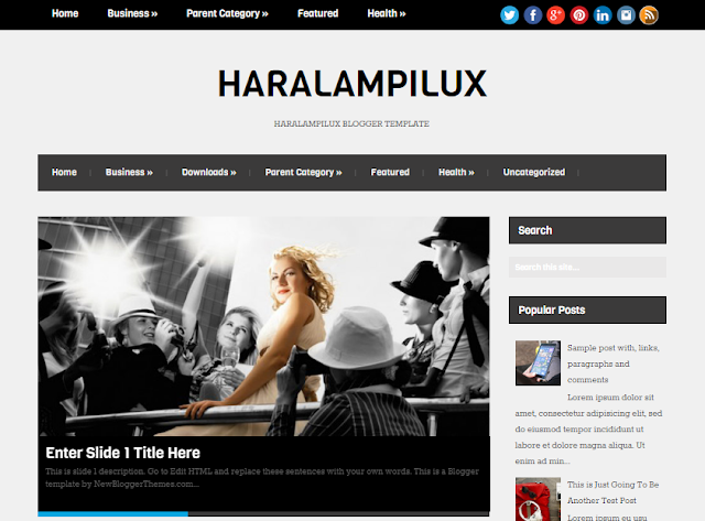 HaralampiLux blogger template 2016