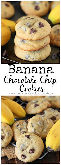 Banana Chocolate Chip Cookies pin image
