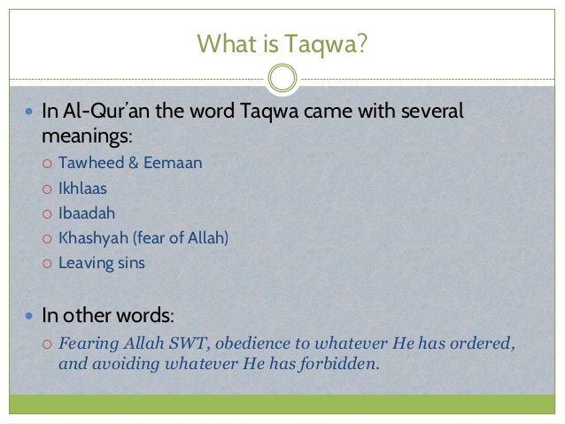 What is Taqwa in Islam?