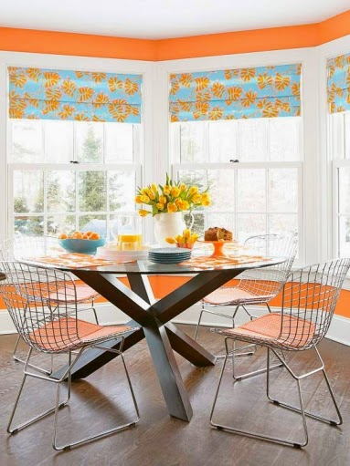 Diseño comedor mesa redonda