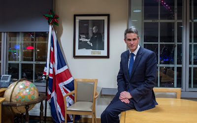 Secretary of State for Defence, Gavin Williamson at the Ministry of Defence on Whitehall CREDIT: JULIAN SIMMONDS