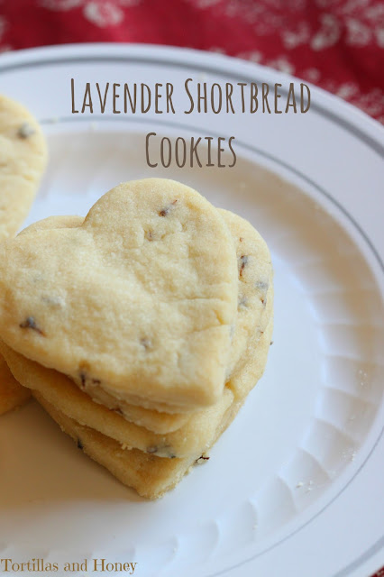 Lavender Shortbread Cookies | Tortillas and Honey