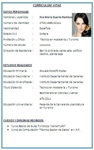 Formato Y Explicacion Para Hacer Un Curriculum Vitae Wikisabios