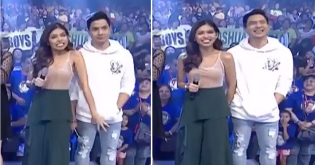 Maine Mendoza Grabbing Alden Richards' Crotch