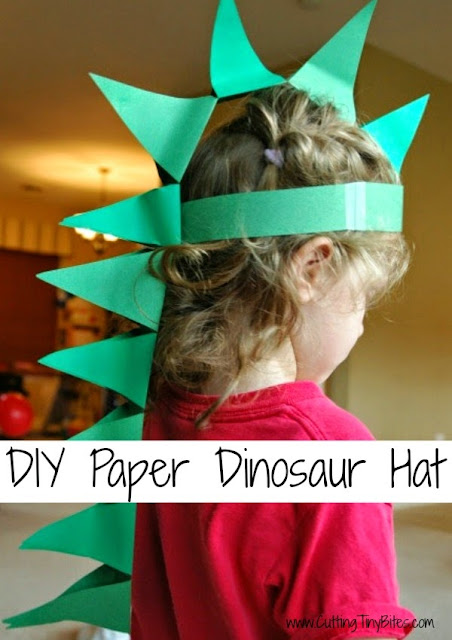 Diy paper dinosaur hat what can we do with paper and glue diy paper dinosaur hat craft for preschool or older kids solutioingenieria Choice Image