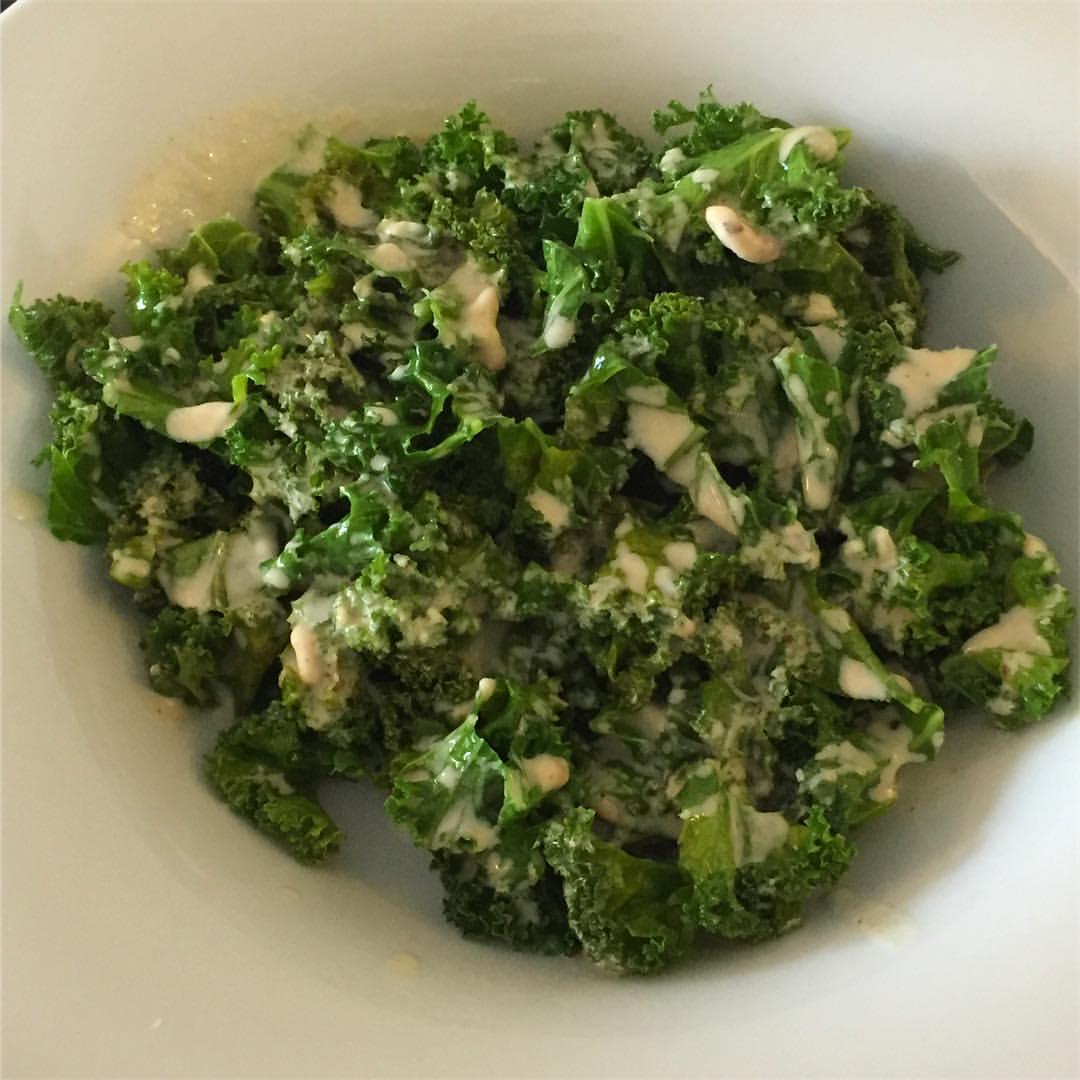 Kale with Tahini Lemon dressing