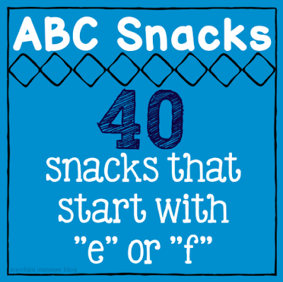 snacks that start with f, letter of the week, preschool snacks, abc snack ideas, letter of the week snacks