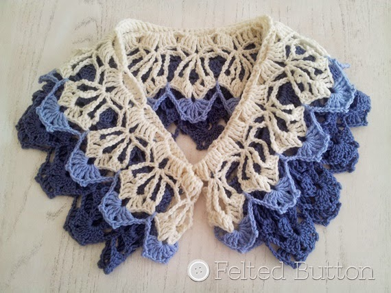 Garden Terrace Infinity Scarf crochet pattern by Felted Button (Susan Carlson)