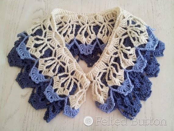 Garden Terrace Infinity Scarf crochet pattern by Felted Button (Susan Carlson)