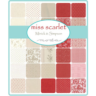 Moda Miss Scarlet Fabric by Minick & Simpson for Moda Fabrics