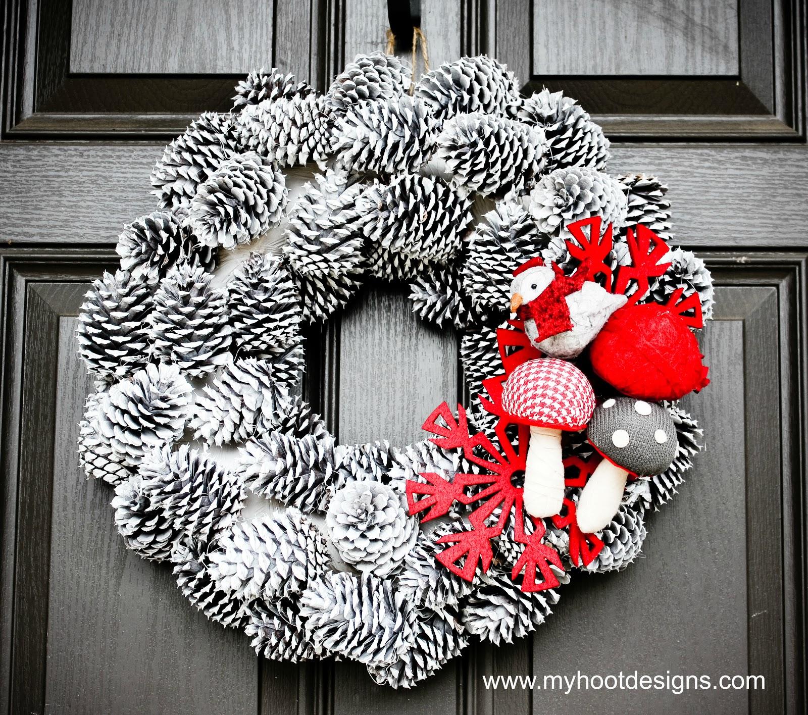 Wreath Ideas: Hoot Designs: Holiday Winter Woodland Wreath