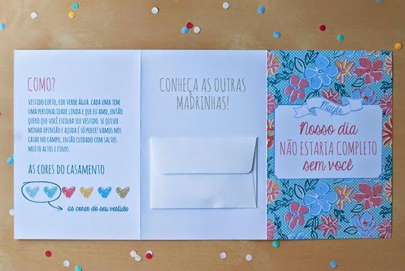 Convite Criativo Madrinha Casamento