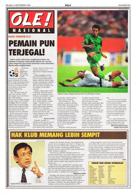 SEPAKBOLA NASIONAL: KASUS TRANSFER DI LIGA INDONESIA
