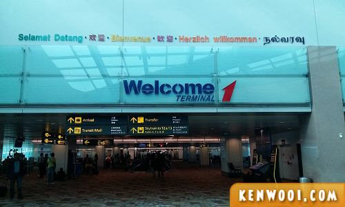 changi airport welcome