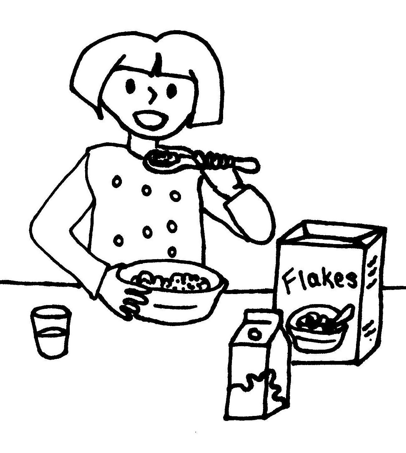 Breakfast Pages Coloring Pages