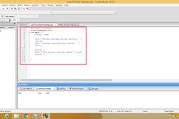 Contoh Program Bahasa C++ Menghitung Luas dan Keliling Persegi Panjang