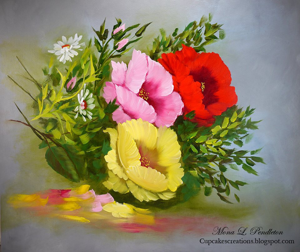 a trio of bright poppies ~ Cupcake's Creations