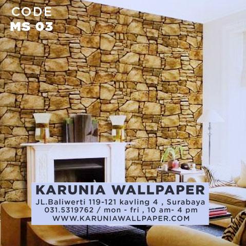jual wallpaper batu bata roll besar