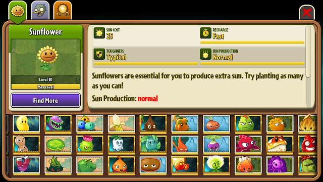 cheat plants vs zombie 2 semua tanaman terbuka max level
