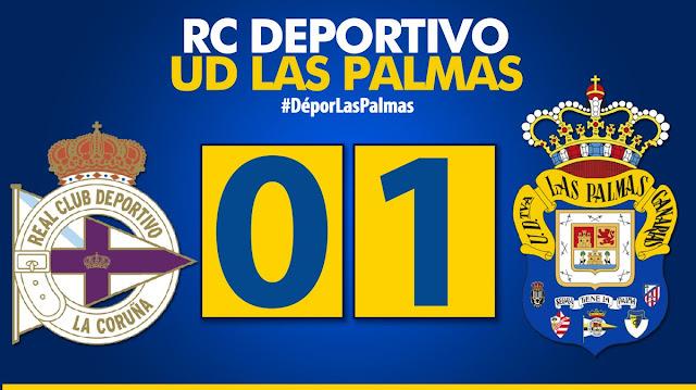 Marcador final RC Deportivo 0-1 UD Las Palmas