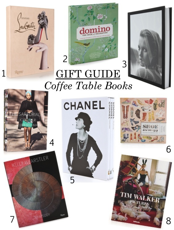 gifts, coffee table books