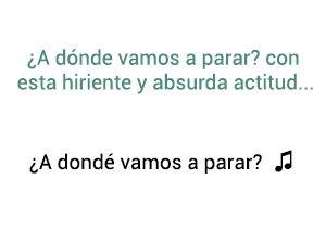 Marco Antonio Solís Los Bukis ¿A Dondé Vamos a Parar? significado de la canción.