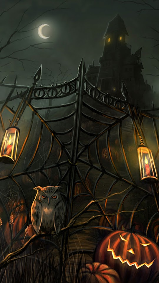 Scary Haunted House Gate Halloween  Galaxy Note HD Wallpaper
