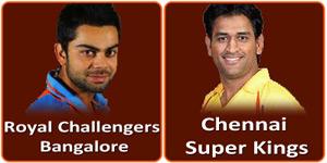 आइपीएल 6 का सोलहवां मैच चेन्नई सुपर किंग्स और रॉयल चैलेन्जर्स बंगलौर के बीच होना है।