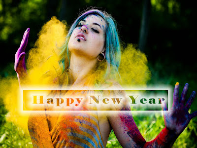 Hot n Sizzling New Year 2017 Girl Wallpaper