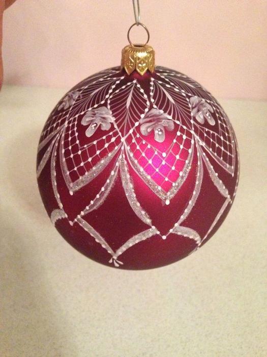 Aprende c mo pintar esferas navide as de forma - Como pintar bolas de navidad ...