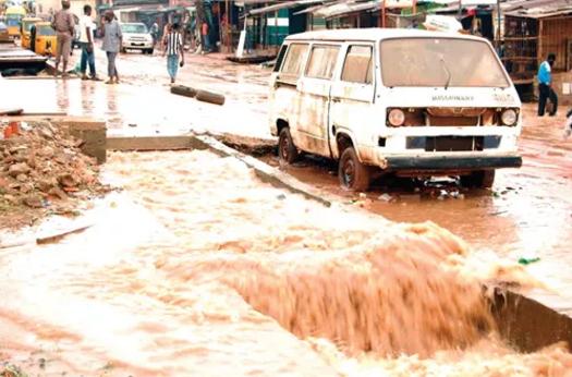boy drowns flooded gutter bayelsa