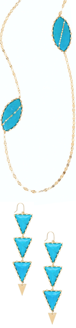 Lana Athena Duo Turquoise Necklace