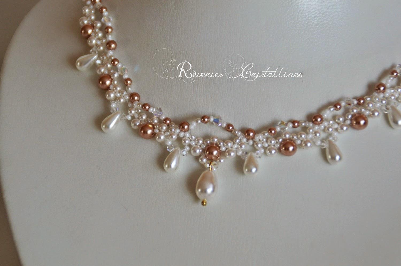bijoux mariée fantaisie rose gold