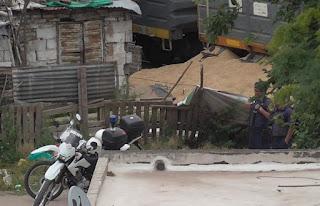 Intentan robar soja de un tren descarrillado en Alta Córdoba