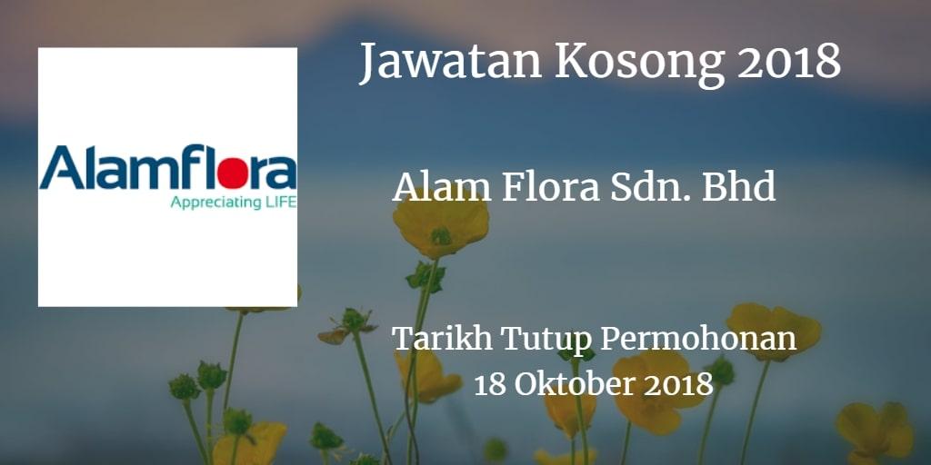 Jawatan Kosong Alam Flora Sdn. Bhd 18 Oktober 2018
