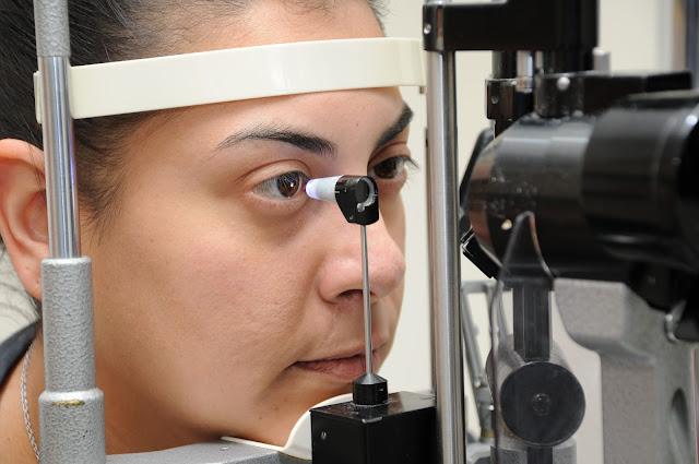Intra ocular pressure examination