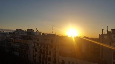 Vistas desde la agencia de comunicación, en el centro de Madrid