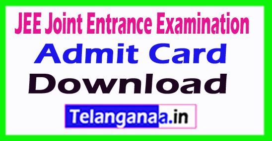 JEE Joint Entrance Examination( Main ) Admit Card Download