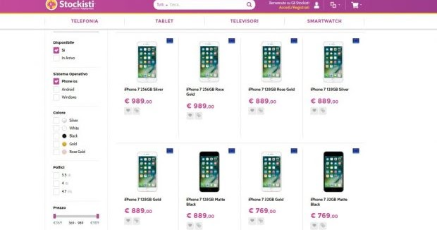 Offerte Glistockisti iPhone 7 32-128-256 GB