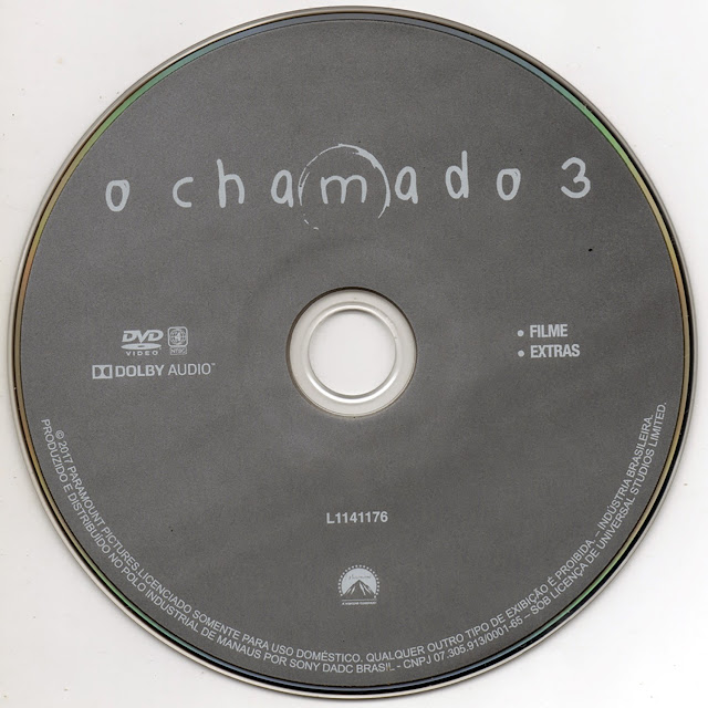 Label DVD O Chamado 3 (Oficial)