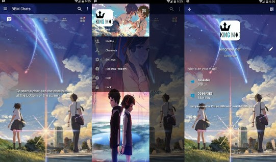 BBM MOD ANIME Kimi no Nawa YOUR NAME v3.0.1.25 Apk