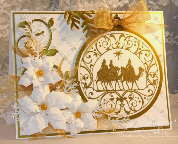 Our Daily Bread Designs, Wisemen Ornament, Fancy Foliage, Peaceful Poinsettia, Matting Circles, Circle Ornaments