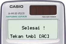 Reset Kalkulator Casio Scientific FX-991ID Plus 3