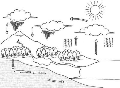 Water Cycle Coloring ~ Child Coloring