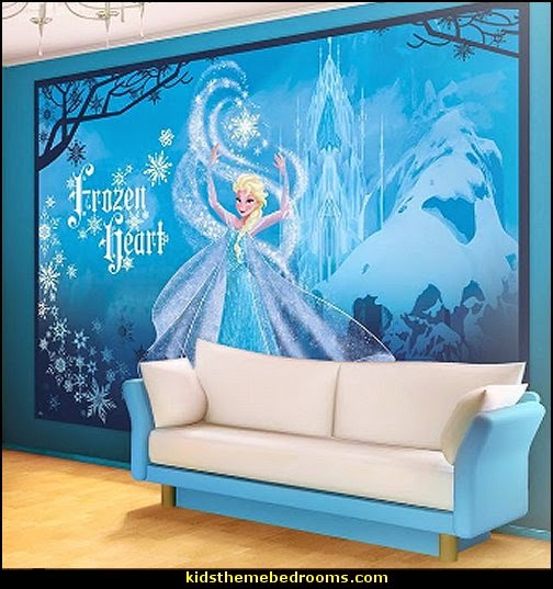 Frozen theme Elsa bedroom - Elsa theme bedroom ideas - princess Disney Frozen - Winter theme decorations -  Frozen room decorating ideas - Disney Frozen themed decor - Queen Elsa Frozen theme bedroom decor  - Disney Frozen bedroom decorating ideas - snow queen bedroom ideas
